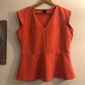 Tops - <Worthington> Coral Peplum Sleeveless Blouse